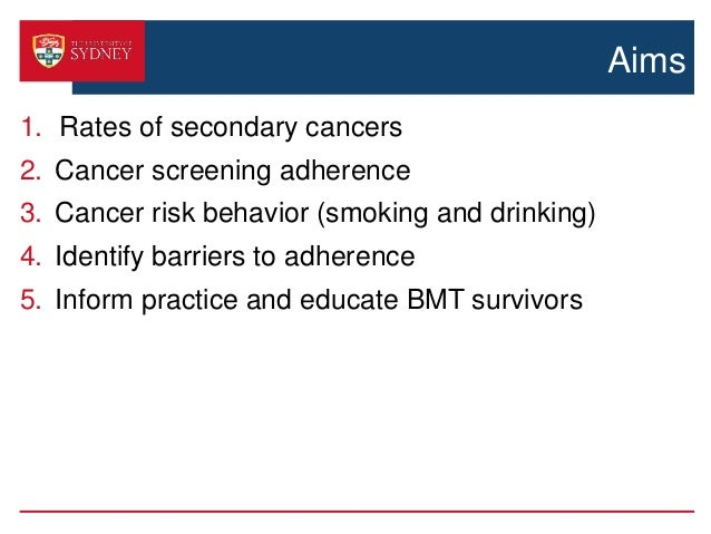 Secondary cancers