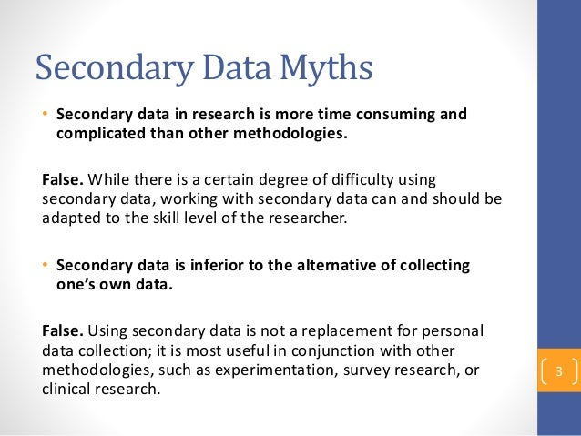 secondary data in research methodology Secondary data  specification and methodology used margin of error should  be examined the dependability  similar articles under - marketing research.