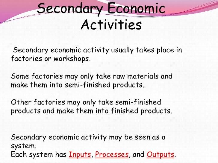 Secondary Economic 1