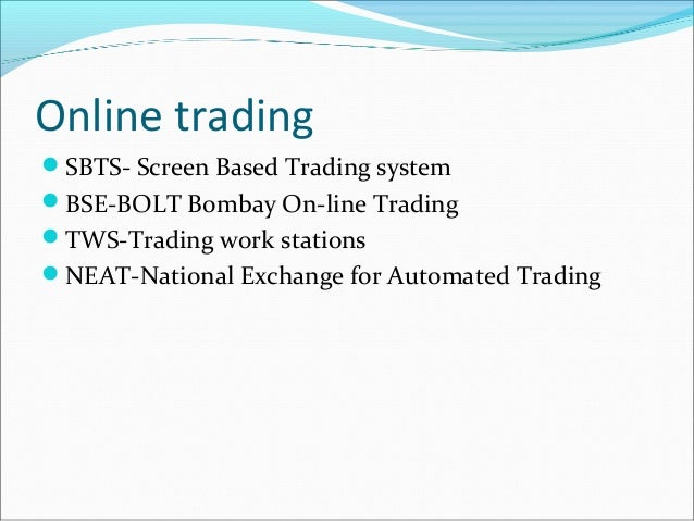 Neat trading system ticker screen