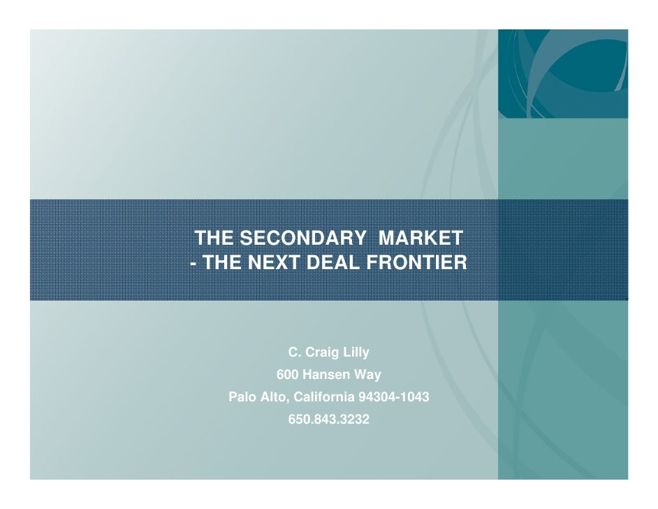 secondary market Market research is based on solid searches of the literature secondary research is the gathering and analyzing of data that was previously collected to serve a purpose other than the current reason for the research in this way, secondary research differs from p rimary market research, which is the direct gathering of information from individuals in.