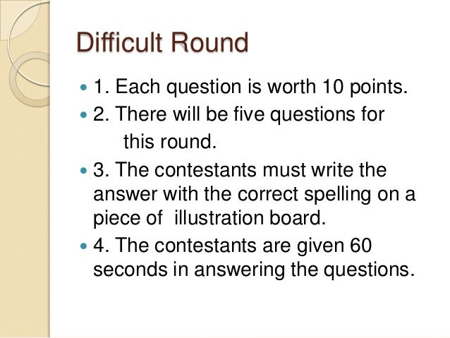 Math quiz bee questions - Coursework Sample