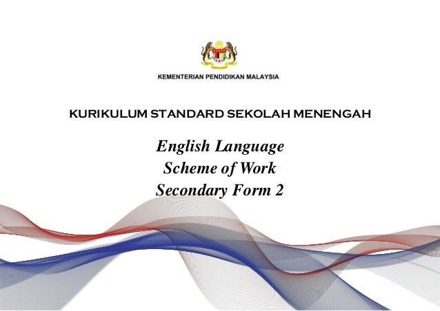 Scheme Of Work English Form 2