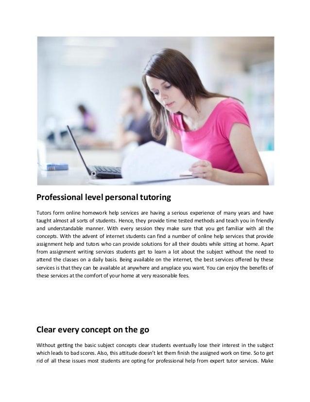 Online homework help service