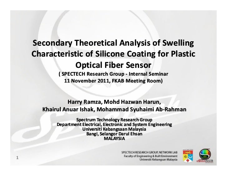 Secondary Theoretical Analysis of Swelling    Characteristic of Silicone Coating for Plastic               Optical Fiber S...