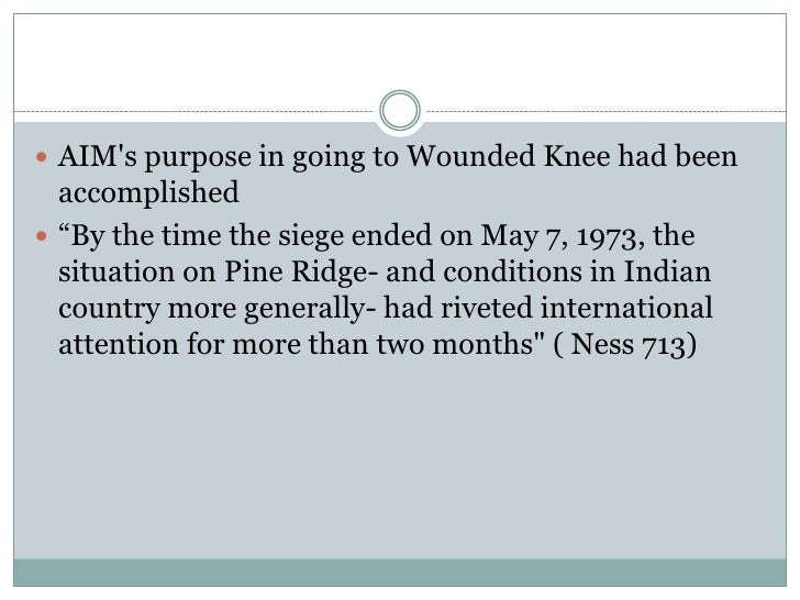 a report on the battle at wounded knee Within hours, police had surrounded wounded knee, forming a cordon  to  many observers, the standoff resembled the wounded knee massacre of 1890  itself  reports have the adult unemployment rate on the reservation.
