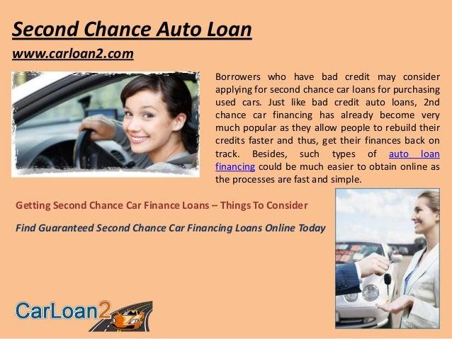 Second Chance Auto >> Second Chance Auto Loan