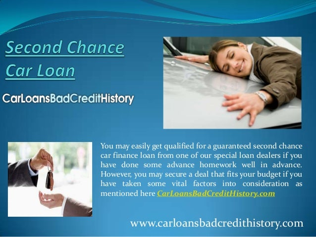 You may easily get qualified for a guaranteed second chancecar finance loan from one of our special loan dealers if youhav...