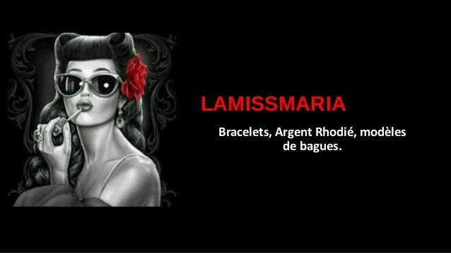 LAMISSMARIA Bracelets, Argent Rhodié, modèles de bagues.