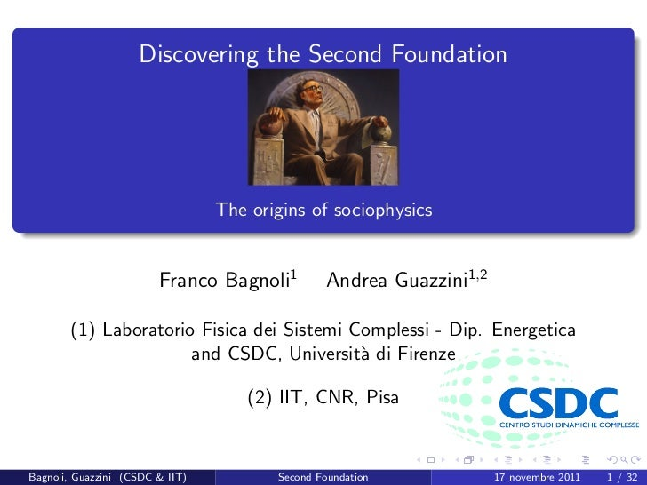 Discovering the Second Foundation                                 The origins of sociophysics                        Franc...