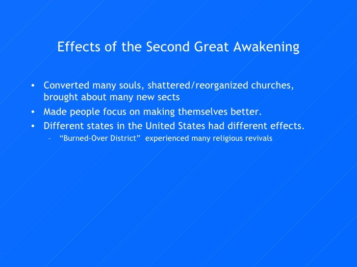 Second great awakening effects