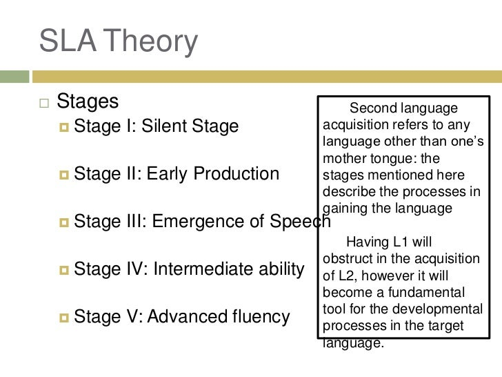 theories of motivation for second language acquisition sla Keywords: motivation, integrative motivation, amtb motivation in second language acquisition 3 second language motivation: gardner's theory of motivation the researchers believe that motivation is a very important concept in l2 learning.