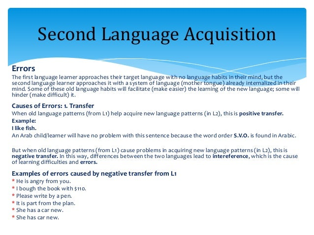 first and second language Second language effects on ambiguity resolution in the first language  christie brien and laura sabourin university of ottawa abstract the processing  of.