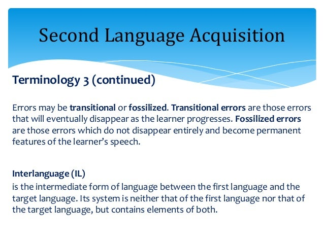 an analysis of the factors that influence or impede the acquisition of a second language However, there are other crucial factors that influence success in learning a foreign language first, verbal intelligence is one of the cognitive factors that have to do with words, written and a drawback of this strategy is that it can impede the development of speaking skills since learners can.