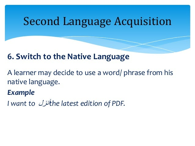 second language theories Second language acquisition or second language learning is the process by which people learn a second language in addition to their native language(s)sometimes these terms are not treated.