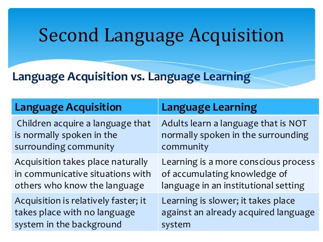 language grasping vs . foreign language obtain essay