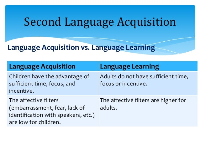 Children Learning Languages faster than Adults: The ...