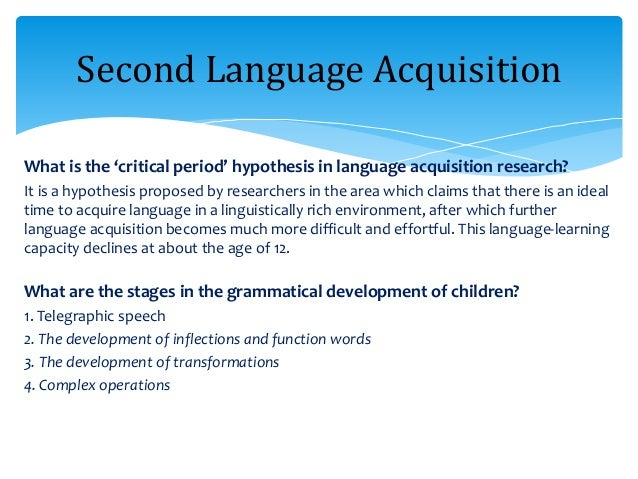are children born with an innate ability to acquire language We then consider how children acquire the ability to rapidly combine linguistic elements to determine the relationships between these language input to children already includes products of innate biases the second wave of children to acquire the language added even more structure.
