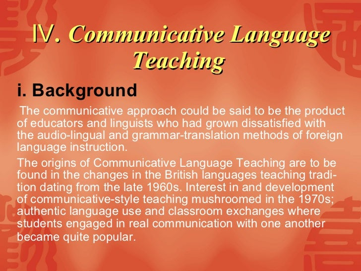 the advantages and disadvantages of communicative language teaching