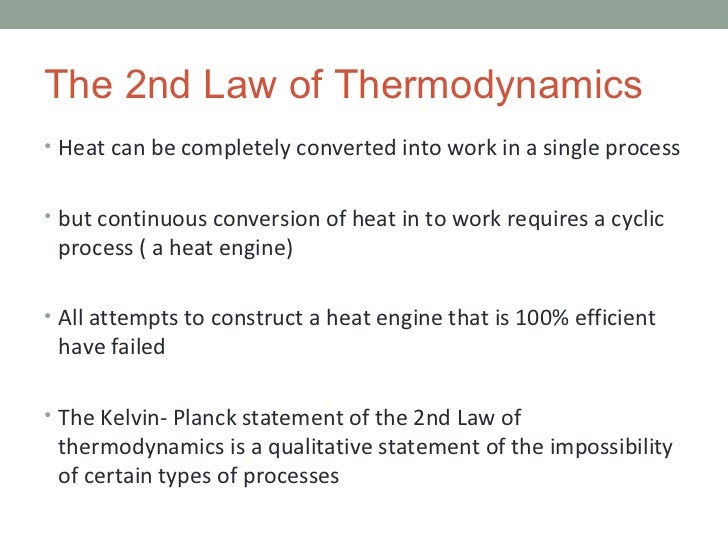 10 3 second law of thermodynamics