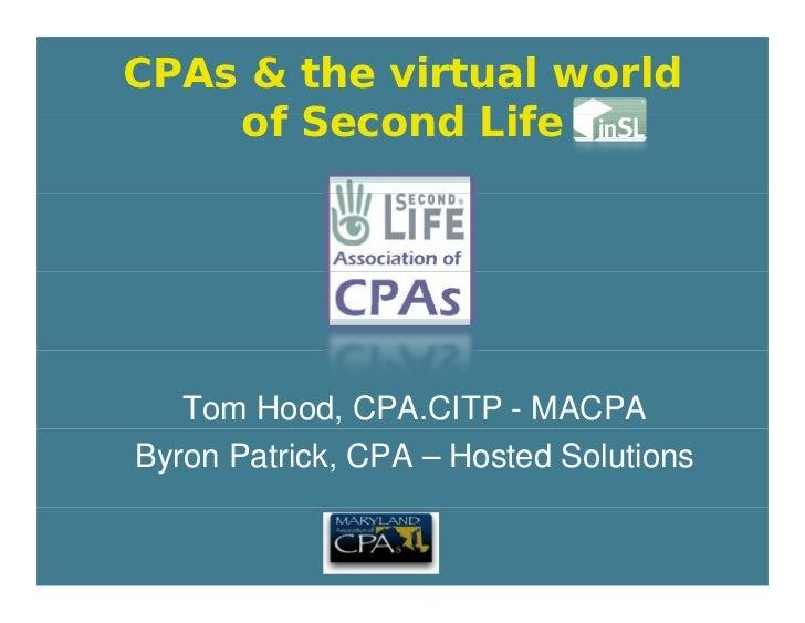 Second Life   AICPA Tech Plus