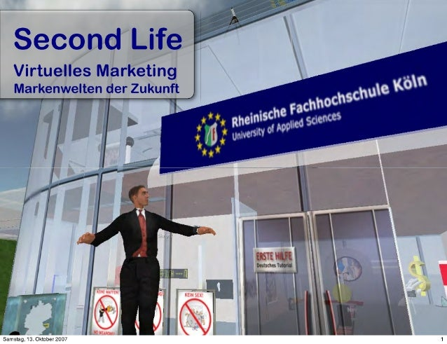 Secondlife Virtuelles Marketing Tu Kaiserslautern