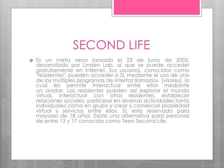 Second life2 Slide 2