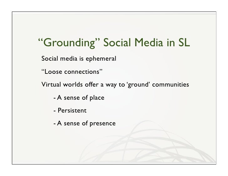 A Few Questions Is Second Life a Social Media, or Merely Sociable? How do you integrate Second Life with social media? Doe...