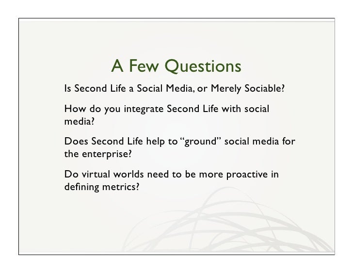 Second Life And Social Media