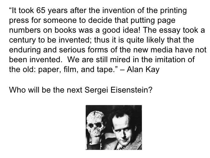 """"""" It took 65 years after the invention of the printing press for someone to decide that putting page numbers on books was ..."""