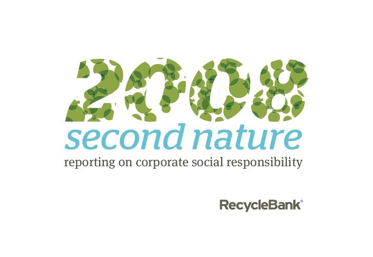 reporting on corporate social responsibility