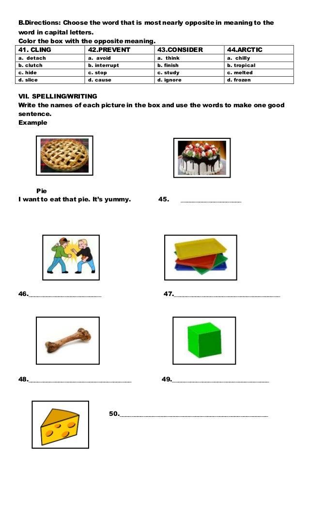 Comprehension Test Grade 4