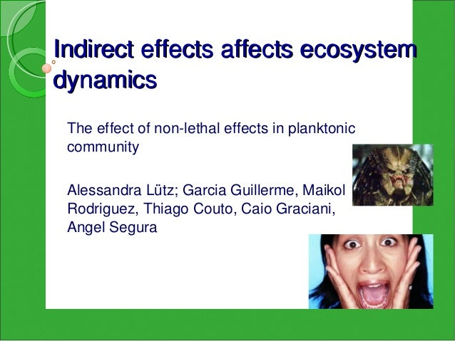 Indirecteffectsaffectsecosystemdynamics Theeffectofnonlethaleffectsinplanktonic community AlessandraLütz;Gar...