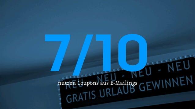 7/10 nutzen Coupons aus E-Mailings