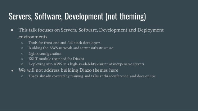 Second Skin: Real-Time Retheming a Legacy Web Application with Diazo in the Cloud Slide 3