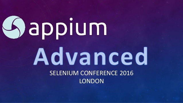 SELENIUM CONFERENCE 2016 LONDON