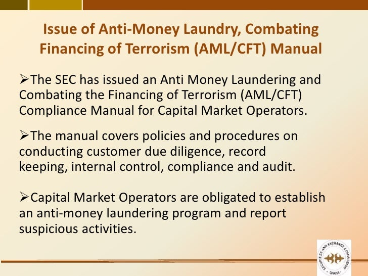 anti money laundering policies and procedures manual