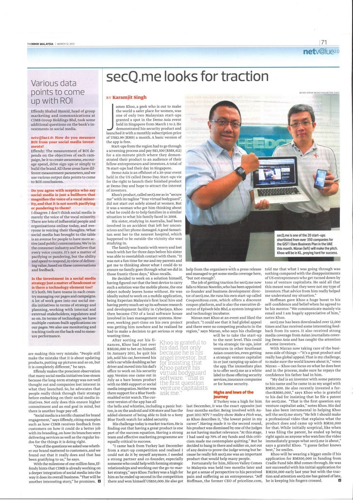 Secq.me article in TheEdge
