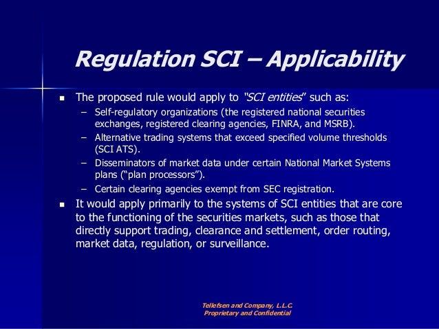 Alternative trading system regulation