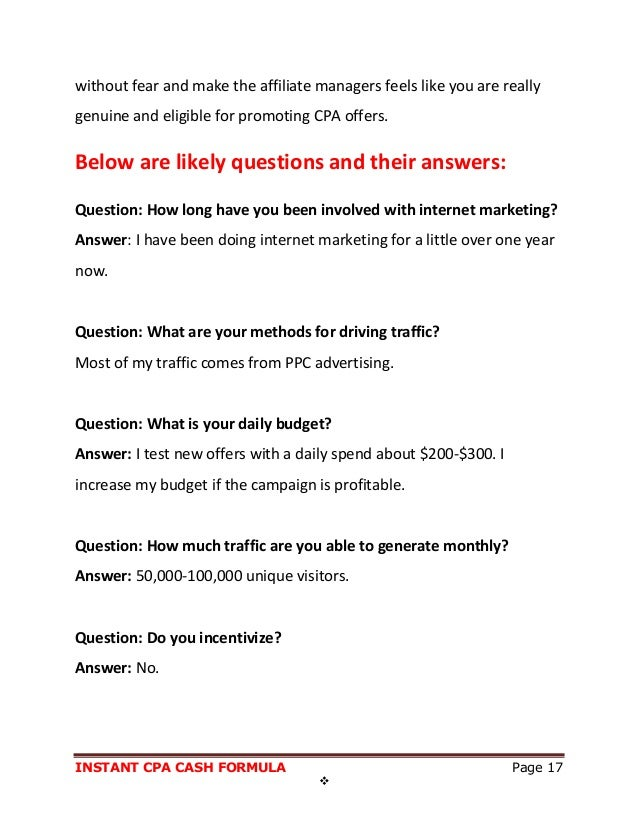 Secret cpa traffic source answers all his questions 17 fandeluxe Images