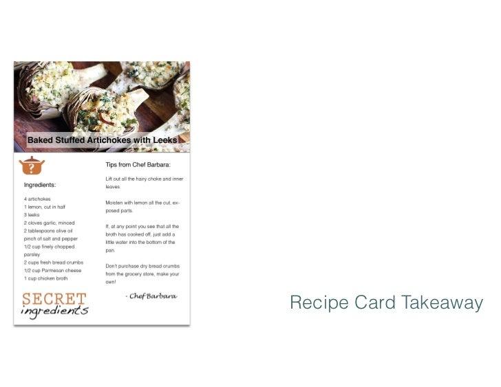 Recipe Card Takeaway