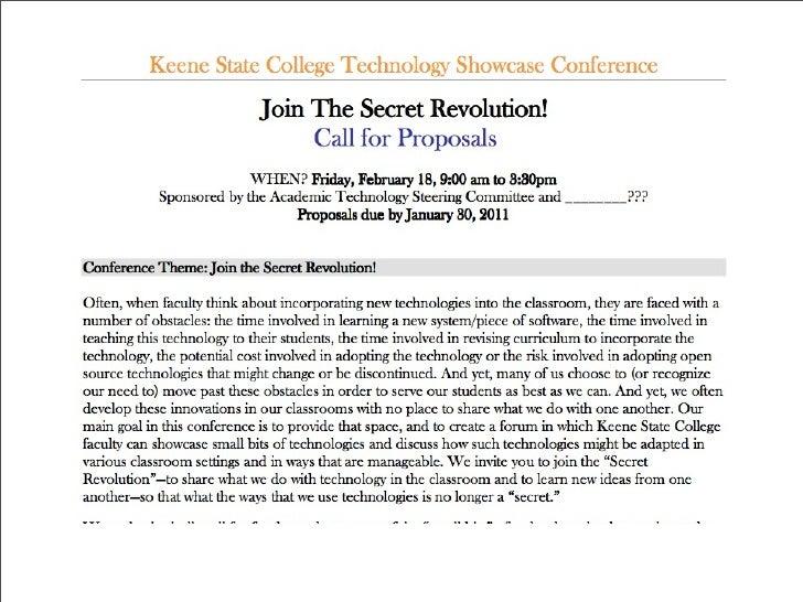 The Secret Revolution (Keene State College) Slide 2