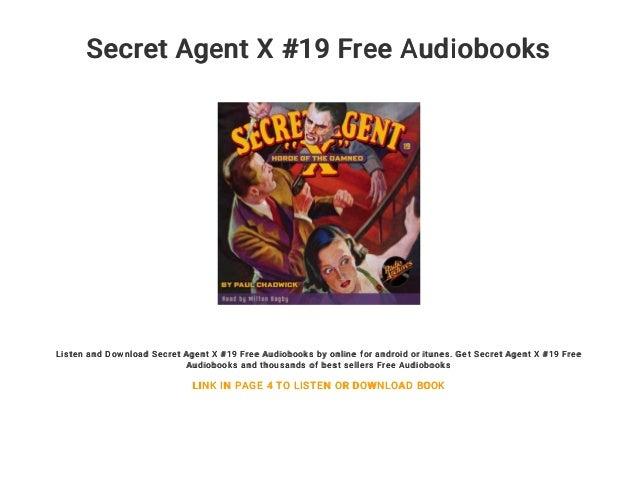 Secret Agent X #19 Free Audiobooks