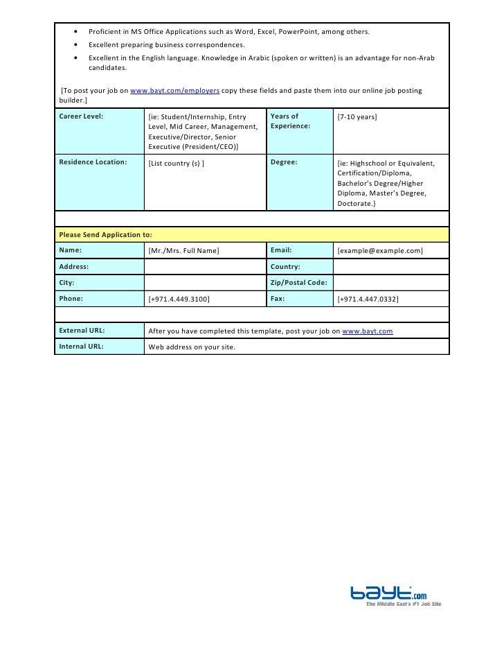 secretary job description template by baytcom - Job Description Of An Animator