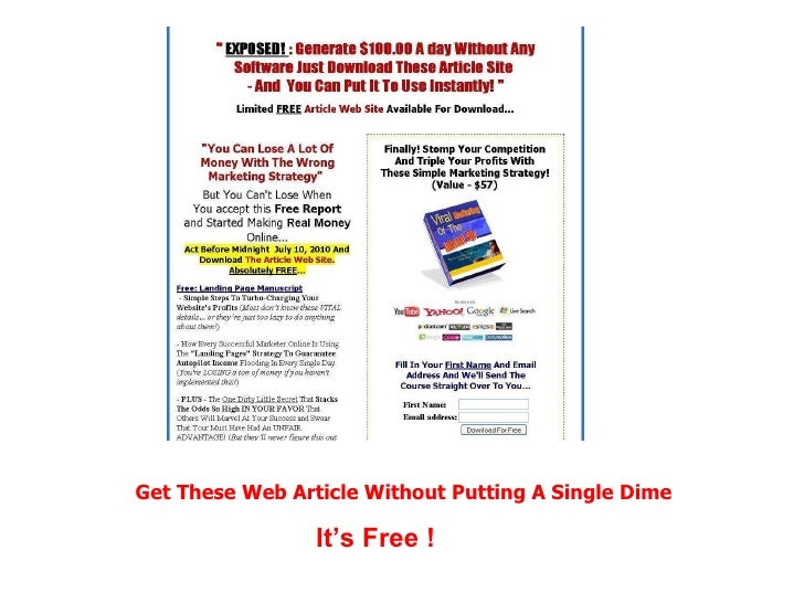 Get These Web Article Without Putting A Single Dime It's Free !