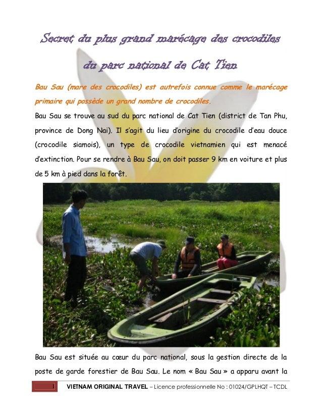 Secret du plus grand marécage des crocodiles du parc national de Cat Tien Bau Sau (mare des crocodiles) est autrefois conn...