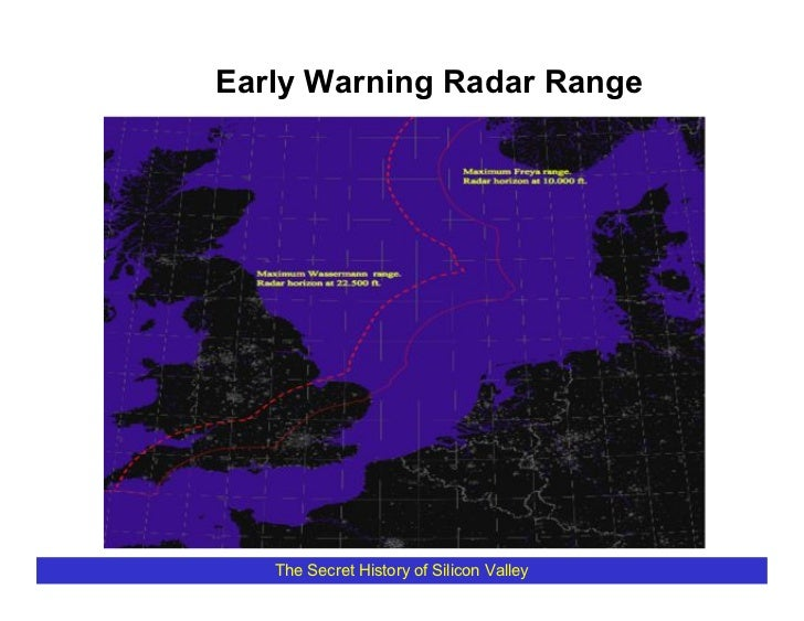 Early Warning Radar Range        The Secret History of Silicon Valley