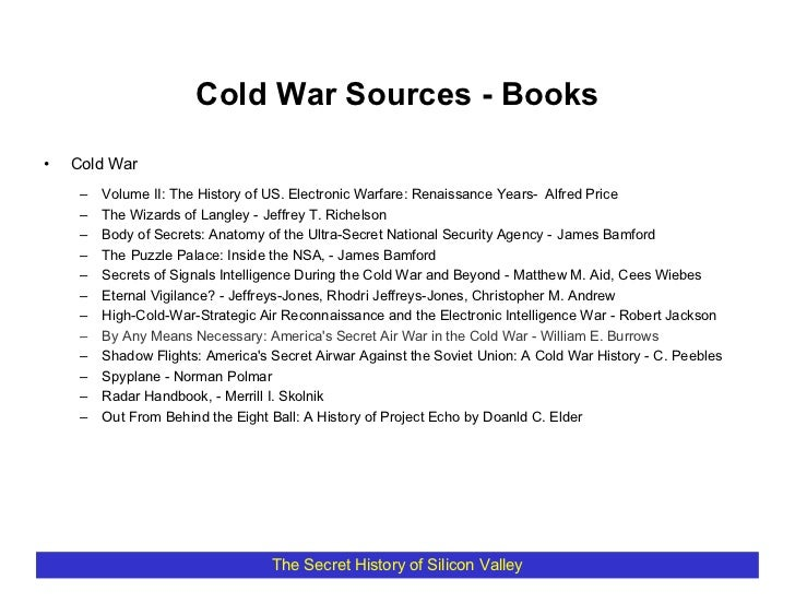 Cold War Sources - Books  •   Cold War      –   Volume II: The History of US. Electronic Warfare: Renaissance Years- Alfre...