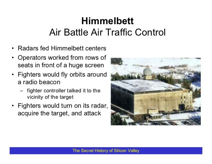 Himmelbett                 Air Battle Air Traffic Control • Radars fed Himmelbett centers • Operators worked from rows of ...