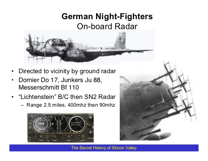 German Night-Fighters                      On-board Radar     • Directed to vicinity by ground radar • Dornier Do 17, Junk...